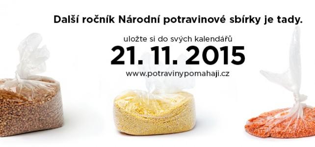 Zapište si datum 21. listopad 2015. Proběhne třetí ročník Národní potravinové sbírky