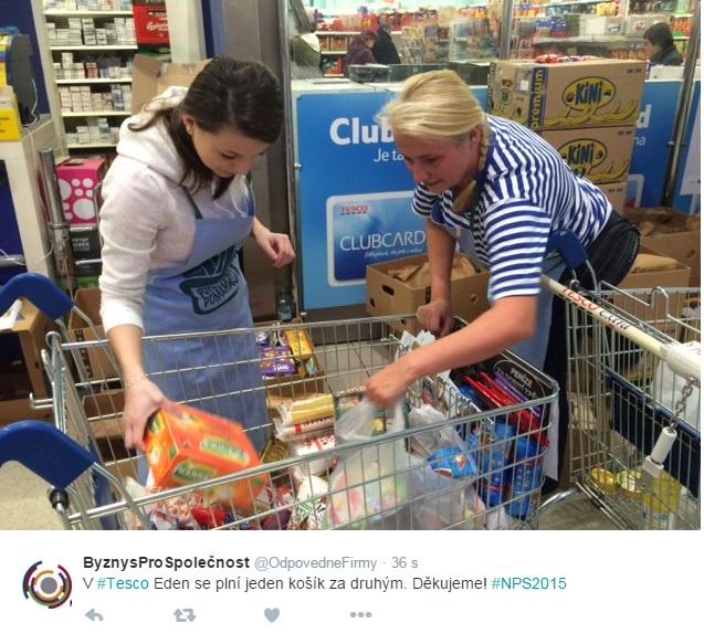 Národní potravinová sbírka 2015, Twitter