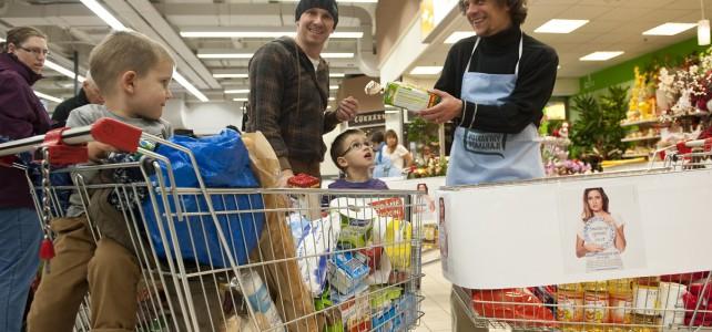 Rekordní Kaufland: Podívejte se do míst, kde se vybralo 44,1 tuny potravin