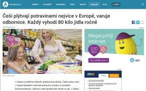 Článěk Aktuálně.cz o Národní potravinové sbírce. Repro: PP