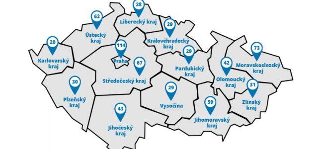 Nová mapa zapojených provozoven