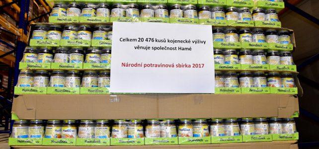 Hamé do sbírky darovalo přes 20 000 kusů kojeneckých výživ